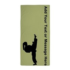 Martial Arts Personalized Beach Towel