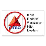 Boycott Citgo Sticker - DEVIL (Rectangular)