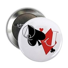 "Spade and Diamond 2.25"" Button (10 pack)"
