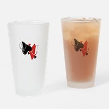 Spade and Diamond Drinking Glass