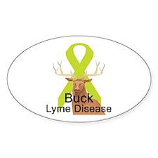 Lyme Disease Oval Decal
