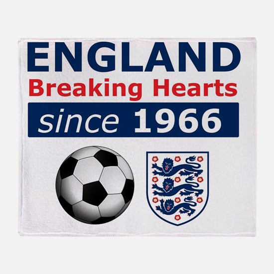 England.  Breaking Hearts since 1966 Throw Blanket
