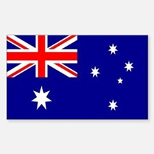Australia Flag Sticker (Rectangle)