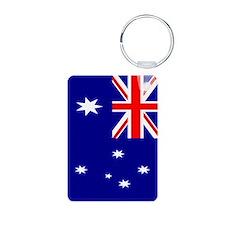 Australia Flag Aluminum Photo Keychain