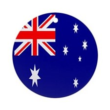 Australia Flag Ornament (Round)