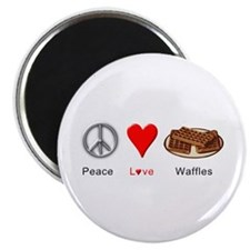 "Peace Love Waffles 2.25"" Magnet (100 pack)"