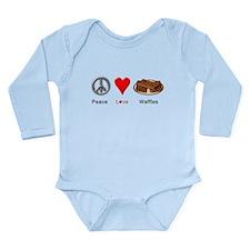 Peace Love Waffles Long Sleeve Infant Bodysuit