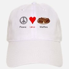 Peace Love Waffles Baseball Baseball Cap