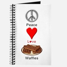 Peace Love Waffles Journal