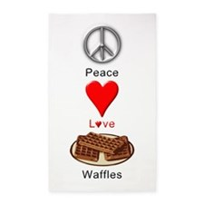 Peace Love Waffles 3'x5' Area Rug