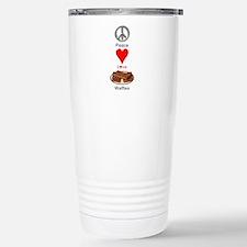 Peace Love Waffles Travel Mug