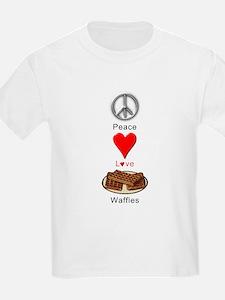 Peace Love Waffles T-Shirt