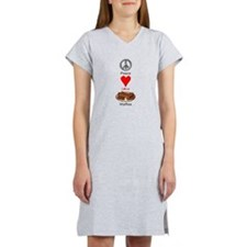 Peace Love Waffles Women's Nightshirt