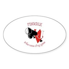 PINOCHLE is the name of game Decal