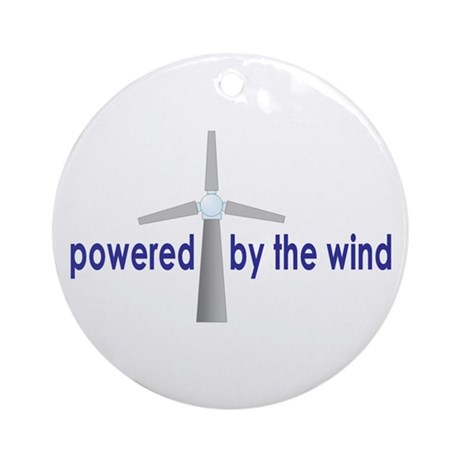 Powered by the Wind Ornament (Round)