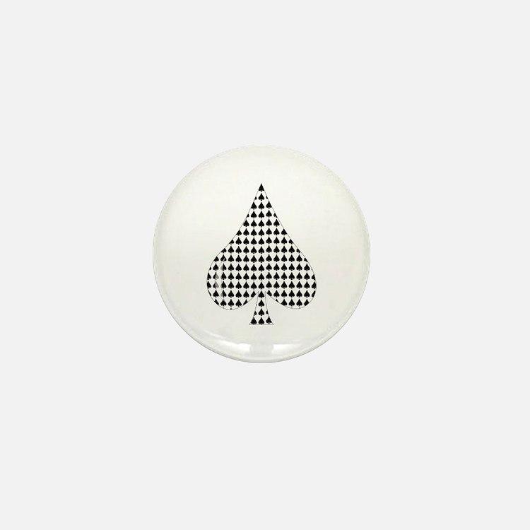 Spade Suit Mini Button (10 pack)