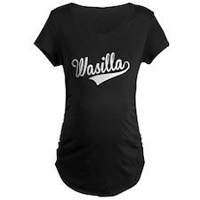 Wasilla, Retro, Maternity T-Shirt