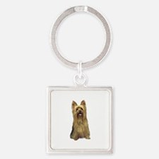 Silky Terrier (B) Square Keychain
