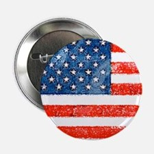 """Grungy American Flag 2.25"""" Button"""