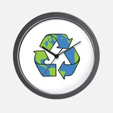 Recycle Symbol Wall Clock