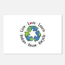Live.Love.Learn.Recycle.Reuse.Reduce Postcards (Pa