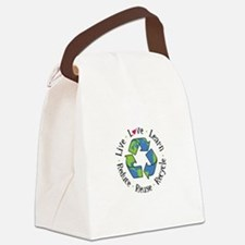 Live.Love.Learn.Recycle.Reuse.Reduce Canvas Lunch