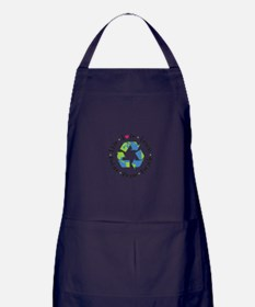 Live.Love.Learn.Recycle.Reuse.Reduce Apron (dark)