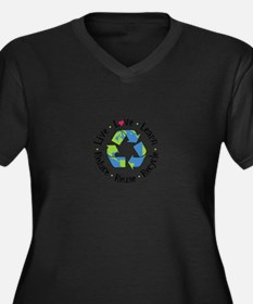 Live.Love.Learn.Recycle.Reuse.Reduce Plus Size T-S