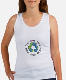 Live.Love.Learn.Recycle.Reuse.Reduce Tank Top