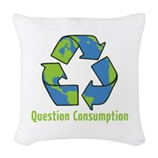Question Consumption Woven Throw Pillow
