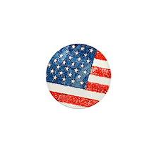 Grungy USA Flag Mini Button (10 pack)