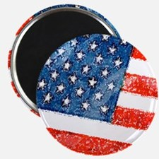 Grungy USA Flag Magnets