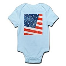 Grungy USA Flag Body Suit