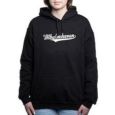 Wilhelmshaven, Retro, Women's Hooded Sweatshirt