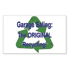 Tho ORIGINAL Recycling! Rectangle Decal
