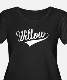 Willow, Retro, Plus Size T-Shirt