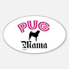 Pug Mama Oval Decal