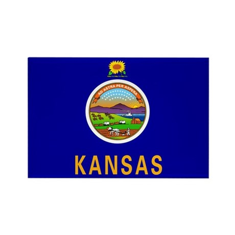 Kansas Rectangle Magnet