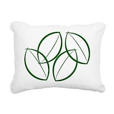 Green leaves Rectangular Canvas Pillow