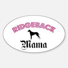 Ridgeback Mama Oval Decal