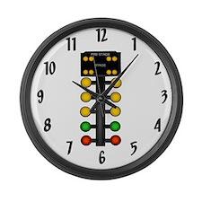 Drag Racing Christmas Tree Large Wall Clock
