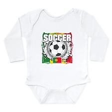 Soccer Portugal Long Sleeve Infant Bodysuit