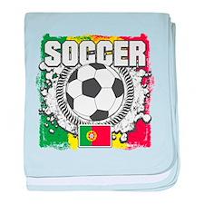 Soccer Portugal baby blanket