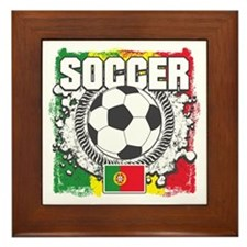 Soccer Portugal Framed Tile