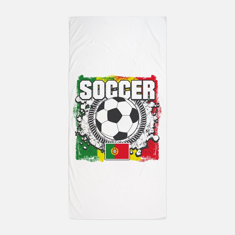 Soccer Portugal Beach Towel
