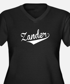 Zander, Retro, Plus Size T-Shirt