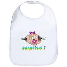 surprise Baby Boo Girl Bib