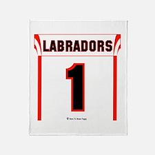 Labrador Jersey Throw Blanket