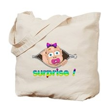surprise Baby Boo Girl Tote Bag