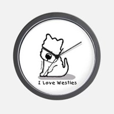I Love Westies! Wall Clock
